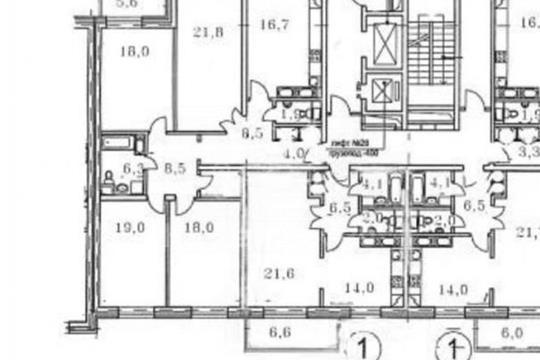 4-комнатная квартира, 126.7 м<sup>2</sup>, 6 этаж