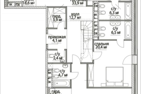 4-комнатная квартира, 269.5 м<sup>2</sup>, 13 этаж
