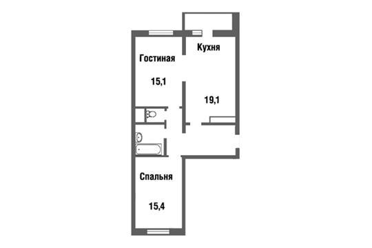 2-комн квартира, 68 м2, 19 этаж