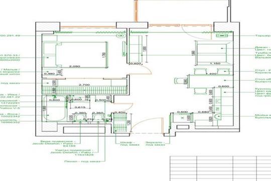 2-комн квартира, 43 м<sup>2</sup>, 22 этаж_1
