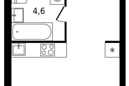 Студия, 26.5 м<sup>2</sup>, 14 этаж