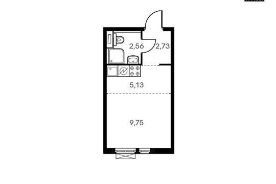 Студия, 20.39 м<sup>2</sup>, 11 этаж