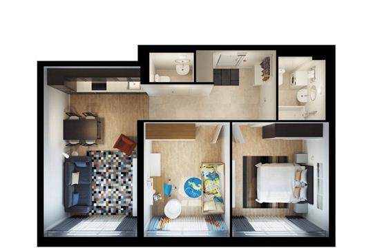 2-комнатная квартира, 63.5 м<sup>2</sup>, 31 этаж