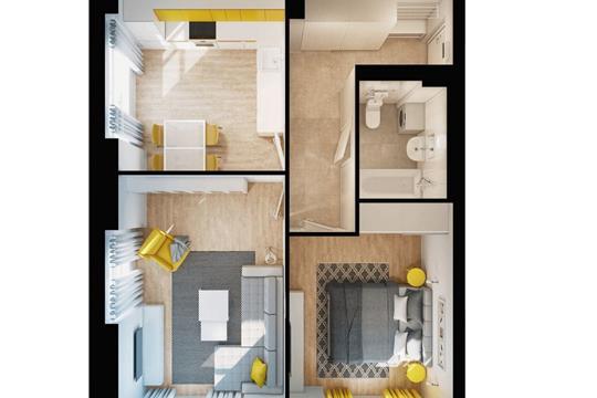 2-комнатная квартира, 55.5 м<sup>2</sup>, 33 этаж