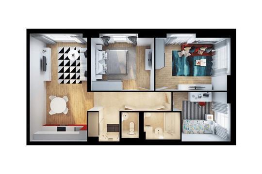 3-комнатная квартира, 79.5 м<sup>2</sup>, 30 этаж
