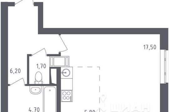 1-комнатная квартира, 35.9 м<sup>2</sup>, 15 этаж