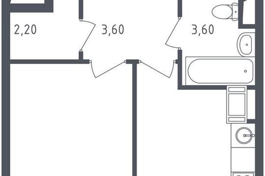 1-комнатная квартира, 34.2 м<sup>2</sup>, 14 этаж