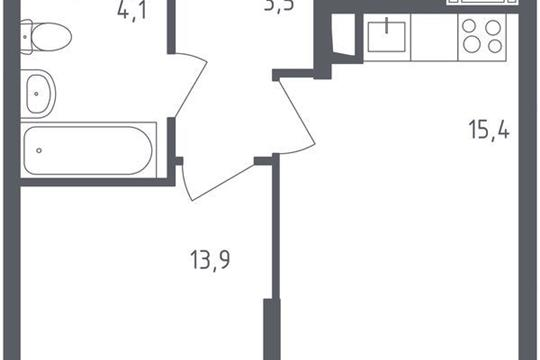 1-комнатная квартира, 36.9 м<sup>2</sup>, 18 этаж
