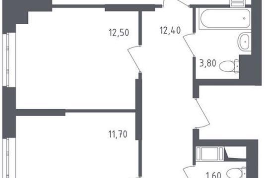 4-комнатная квартира, 93.3 м<sup>2</sup>, 14 этаж