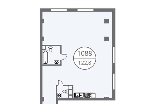 3-комнатная квартира, 122.8 м<sup>2</sup>, 7 этаж