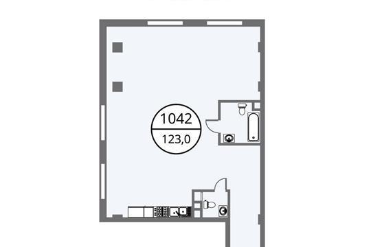 3-комнатная квартира, 123 м<sup>2</sup>, 4 этаж