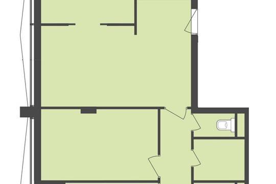 3-комнатная квартира, 66 м<sup>2</sup>, 14 этаж