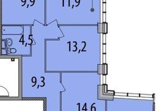 4-комнатная квартира, 119 м<sup>2</sup>, 12 этаж