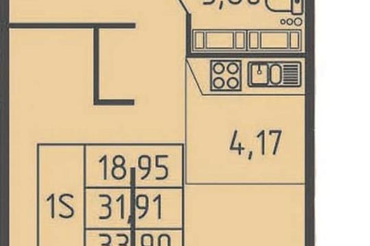 Студия, 33.9 м<sup>2</sup>, 14 этаж