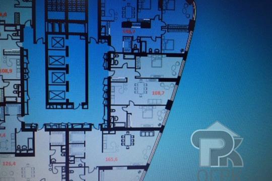 3-комн квартира, 109 м2, 37 этаж