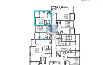 1-комнатная квартира, 29.7 м<sup>2</sup>, 22 этаж