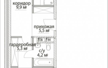 2-комнатная квартира, 96.1 м<sup>2</sup>, 10 этаж
