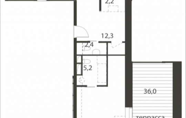 2-комнатная квартира, 110.2 м<sup>2</sup>, 7 этаж