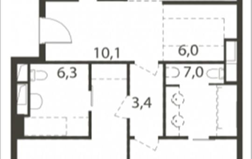 3-комнатная квартира, 144.6 м<sup>2</sup>, 5 этаж