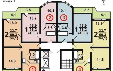 1-комн квартира, 40 м<sup>2</sup>, 11 этаж_1