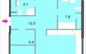 3-комнатная квартира, 112.7 м<sup>2</sup>, 18 этаж