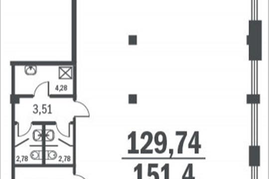 Офис, 151.4 м<sup>2</sup>, класс A