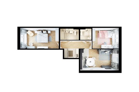 2-комнатная квартира, 65.6 м2, 10 этаж
