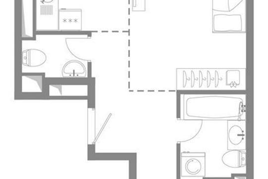 2-комнатная квартира, 60.3 м<sup>2</sup>, 2 этаж