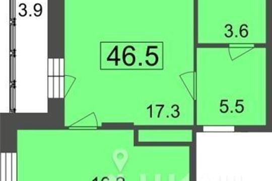 1-комнатная квартира, 42.6 м<sup>2</sup>, 6 этаж
