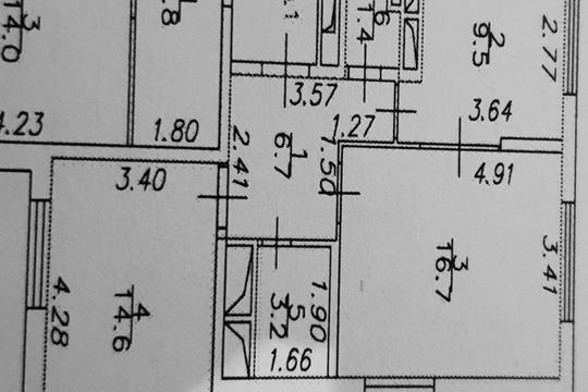 2-комнатная квартира, 52.1 м<sup>2</sup>, 2 этаж