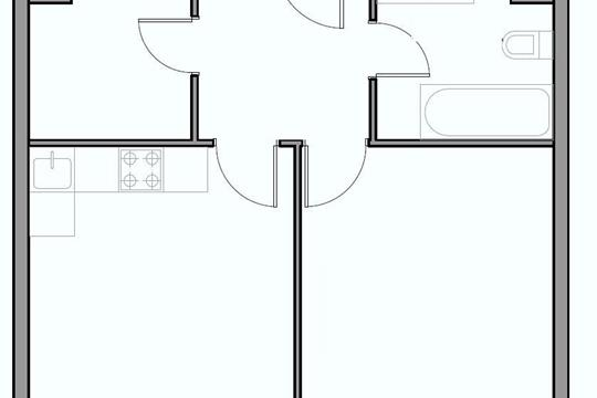 2-комнатная квартира, 50.5 м<sup>2</sup>, 3 этаж