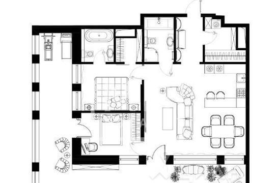 3-комнатная квартира, 133 м<sup>2</sup>, 5 этаж