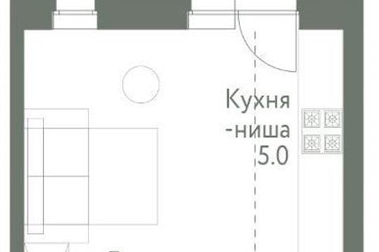 Студия, 25.2 м<sup>2</sup>, 7 этаж