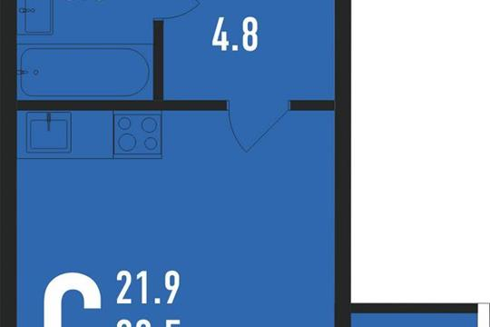 Студия, 35 м<sup>2</sup>, 14 этаж