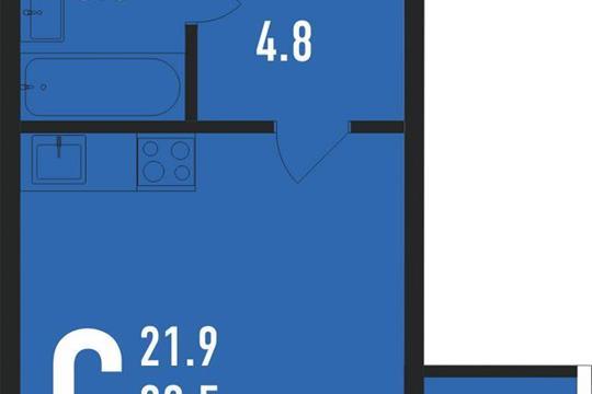 Студия, 35 м<sup>2</sup>, 4 этаж