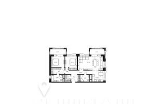 3-комнатная квартира, 97.2 м<sup>2</sup>, 21 этаж