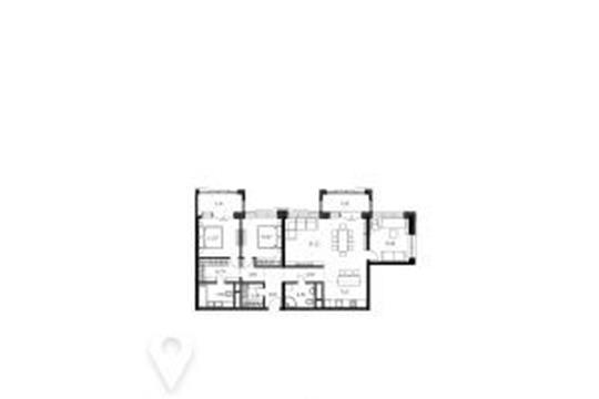 3-комнатная квартира, 108.6 м<sup>2</sup>, 21 этаж