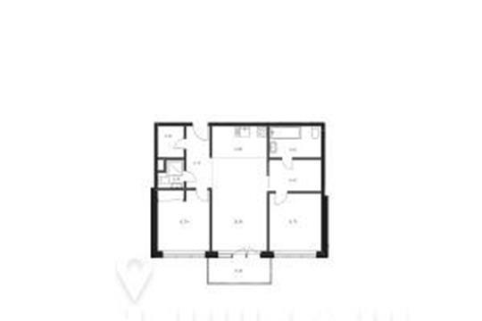 2-комнатная квартира, 76.9 м<sup>2</sup>, 22 этаж