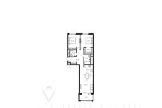 2-комнатная квартира, 82.2 м<sup>2</sup>, 5 этаж