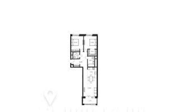 2-комнатная квартира, 82.2 м<sup>2</sup>, 17 этаж