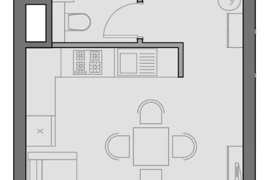 1-комнатная квартира, 32.2 м<sup>2</sup>, 2 этаж