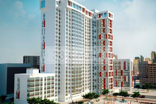 2-комнатная квартира, 61.8 м<sup>2</sup>, 16 этаж