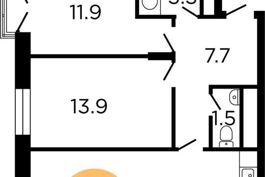 2-комнатная квартира, 63.9 м<sup>2</sup>, 15 этаж