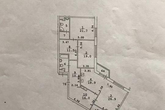Квартира свободной планировки, 144 м<sup>2</sup>, 14 этаж