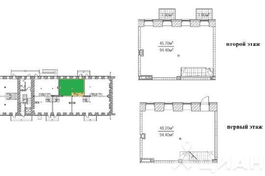 4-комнатная квартира, 94.4 м<sup>2</sup>, 1 этаж