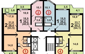 2-комн квартира, 64 м2, 8 этаж