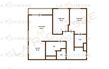 3-комн квартира, 110 м2, 3 этаж