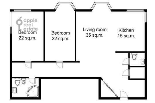 3-комн квартира, 150 м2, 10 этаж