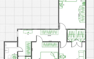 3-комнатная квартира, 65 м2, 9 этаж