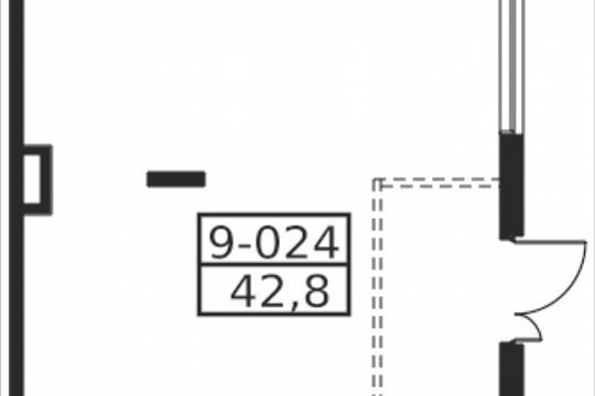 Помещение, 42.8 м2